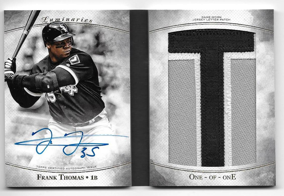 Frank Thomas 17 Topps Luminaries Redemption Card Received Sports