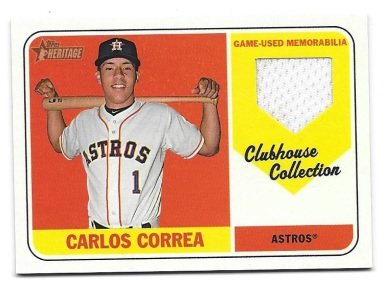 5a9e00f46 Astros '18 Topps Heritage Relic Contest! – NOW CLOSED. This contest is for  a Carlos Correa 2018 ...