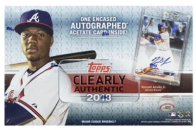 72305ee42 Topps introduced us to Clearly Authentic last year. It quickly became one  of my favorite new products