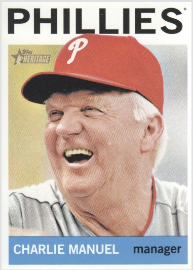 Card Of The Day Charlie Manuel 2013 Topps Heritage 157