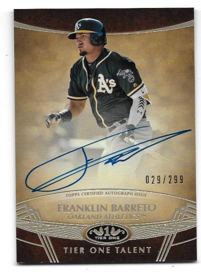 Oakland A's '19 Topps Tier One Auto Contest