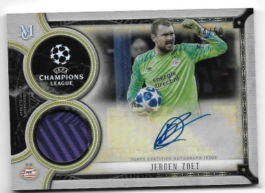 Zoet 2018/19 Topps UEFA Champions League Museulm Collection Auto/Relic Contest!